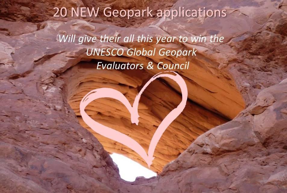 20 nya ansökningar till Unesco Globala Geoparker 2018