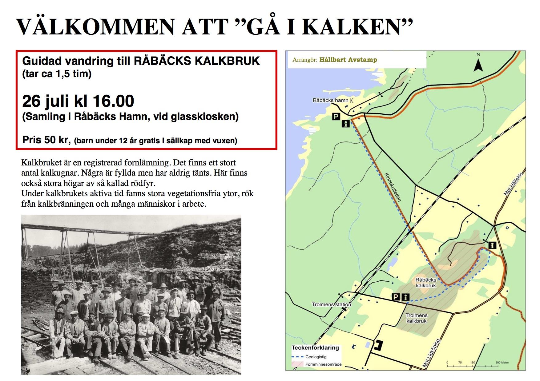 Guidad vandring till Råbäcks kalkbruk