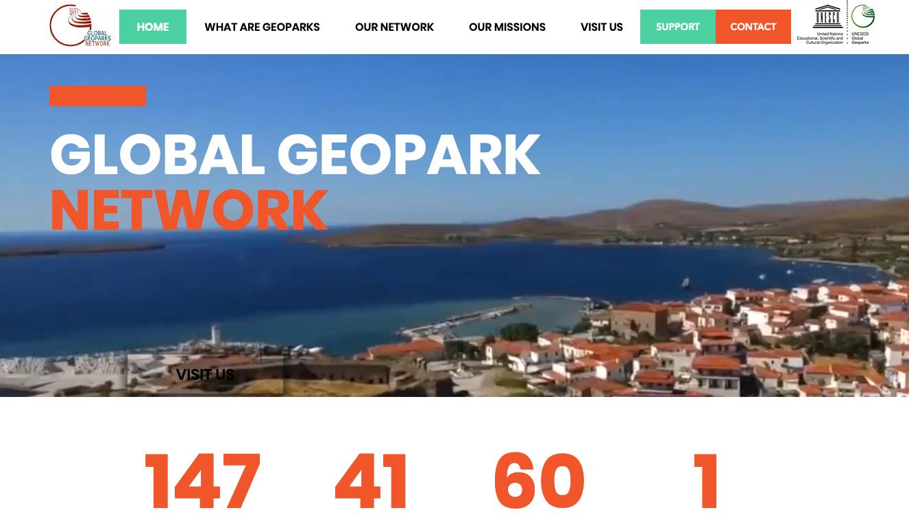 Ny hemsida för Globala Geoparker
